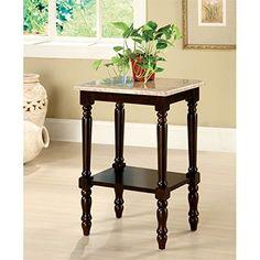 Furniture of America Donovan Marble Top End Table in Dark Cherry https://bestsofatablereviews.info/furniture-of-america-donovan-marble-top-end-table-in-dark-cherry/