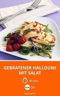 Gebratener Halloumi mit Salat - smarter - Kalorien: 261 kcal - Zeit: 30 Min. | eatsmarter.de