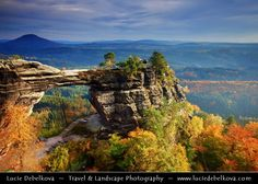 Czech Republic - Bohemian Switzerland - Pravčická brána during Autumn by Lucie Debelkova -