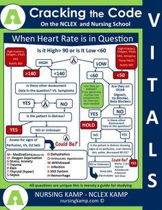 NCLEX Hack Heart Rate - Tachycardia, Bradycardia Assessment of Nursing School Questions Nursing KAMP Med Surg Nursing, Cardiac Nursing, Nursing Career, Nursing Tips, Funny Nursing, Nursing Planner, Nursing Board, Surgical Nursing, Nursing Scholarships