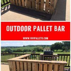 Outdoor Pallet Bar