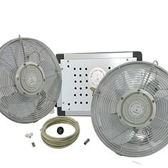 Misting Fans - Misting Fan System  14 Inch Outdoor Misting Fan  Outdoor Cooling Fan Misting 2 FANS ** Details can be found by clicking on the image. (This is an Amazon affiliate link)