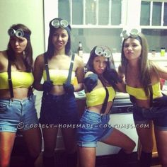 Despicable me Halloween costumes. I will try to do this, just less skimpy for Halloween