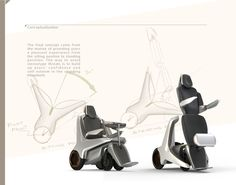 Standing power wheelchair design by Bruce Lin, via Behance
