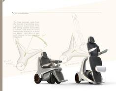 Standing power wheelchair design by Bruce Lin, via Behance