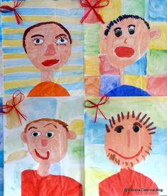 Eccoli i NOSTRI PAPA' che posano per la FOTO DI GRUPPO!!! Pronti nei pacchettini regalo!!! Qui invece si stanno pre... Mother And Father, Holidays And Events, Fathers Day, Kindergarten, Preschool, Cards, Painting, Caterina, Schools
