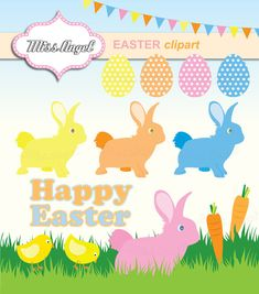 2016 Easter Bunny Clip art Clipart Graphics Commercial Use ...