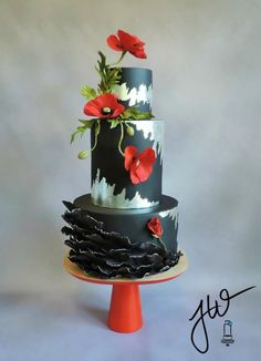 Poppies For Marie - Cake by Jeanne Winslow by agnes