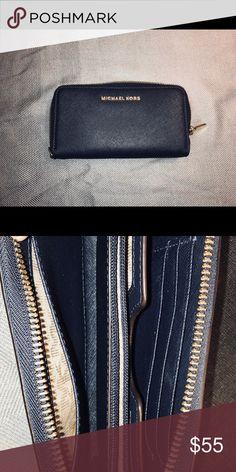 677029fbf5 Michael Kors navy blue wallet Navy blue Michael Kors wallet. Good condition  Michael Kors Bags