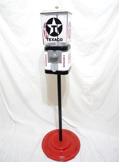 Texaco gas oil pump vintage gumball machine Oak Acorn glass globe + stand #pennymachinegift