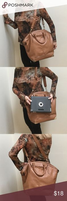 """EXTRA PICS NWOT LGE Carry All Bag/Cross Body Trying to give you perspective of this very versatile bag...I am 5'2"""" and it is a bit large for my stature 😢.  As you can see, it easily accommodates an iPad plus much more.  New, never used but no tags. Possibly could be used as carry on or overnight bag! Bags Satchels"""