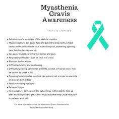Myasthenia Gravis is one of the rare diseases I have. Myesthenia Gravis, Muscle Weakness, Skeletal Muscle, Rare Disease, Nursing Notes, Create Awareness, Autoimmune Disease, Chronic Illness, Healthy Tips
