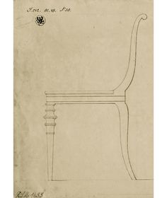 Karl Friedrich Schinkel, Salon chair, 1828-30. Berlin.Mahogany.