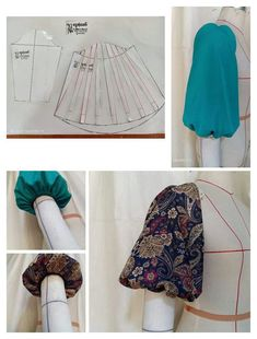 Sewing Techniques Dress How To Make 70 Ideas Sleeves Designs For Dresses, Sleeve Designs, Blouse Designs, Dress Sewing Patterns, Sewing Patterns Free, Clothing Patterns, Fashion Sewing, Diy Fashion, Sewing Clothes