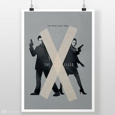 The X-Files Poster X Files Mulder & Scully FBI by CEEDdesigns