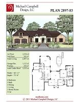 House Plan 2897 square footage, 4 bedrooms, French Country Home Design,French Country House Plan, Country French House Plan, South Louisiana House Plans - 2,000+ sq.ft - Our House Plans