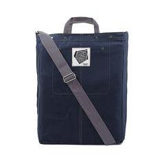 Cross Over Large Shoulder Bag Navy Blue