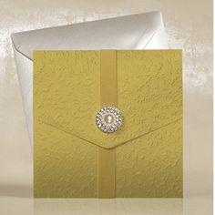 Gold Pocketfold Wedding Invitations UK - Gold Virginia - WeddingSOON
