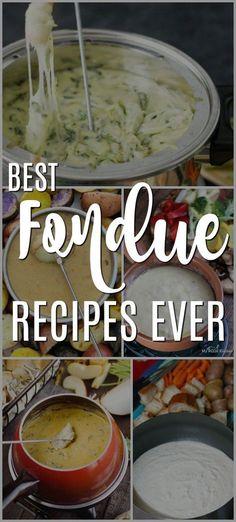 Best Cheese Fondue Recipes Ever This is an awesome list of the best cheese fondue recipes ever! This is an awesome list of the best cheese fondue recipes ever! The Best Cheese Fondue Recipe, Cheese Fondue Dippers, Cheese Fondue Recipes, Cheese Dips, Vegan Cheese, Crockpot Fondue, Fondue Raclette, The Melting Pot, Poffertjes