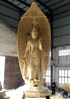Grand Hall, Buddha Art, China Art, Guanyin, Religious Art, Deities, Wood Carving, Sculpture, Statue