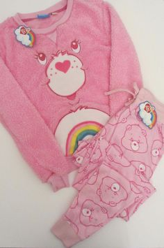 Primark Pink CARE BEARS CHEER BEAR Fluffy Jumper & Lounge Pants Pyjama Set PJ's  in Clothes, Shoes & Accessories, Women's Clothing, Lingerie & Nightwear | eBay!