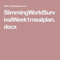 SlimmingWorldSurvivalWeek1mealplan.docx Syn Free Food, Weekly Meal Planner, Food Planner, Sweet Chilli Sauce, Slimming World Recipes, Crispy Chicken, Meals For The Week, Food Hacks, Meal Planning