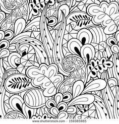 Abstract hand drawn seamless pattern by Benihime, via ShutterStock