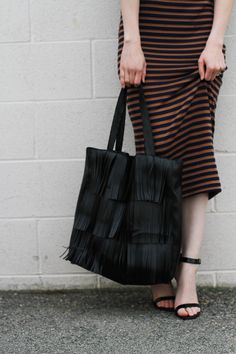 Fringe Leather Bag - Free pattern and step by step Photo tutorial - Bildanleitung und gratis Schnittvorlage