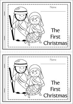 The First Christmas - A beginning sounds reader. A cut religious booklet to teach young readers about the Nativity.