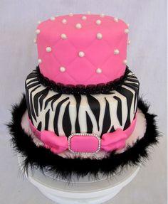 Adorable zebra theme cake