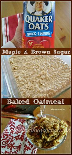 Maple & Brown Sugar Baked Oatmeal |perfect fall recipe | www.thecountrycook.net
