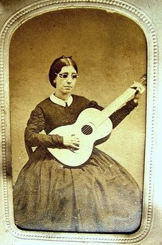 Blind woman from American Civil War period