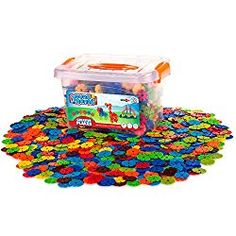 Creative Kids Flakes – 1400 Piece Interlocking Plastic Disc Set for Safe, Fun, Creative Building – Educational STEM Construction Toy for Boys & Girls - Non Toxic – Ages Construction Toys For Boys, Little Architects, Math Stem, Stem Projects, Math Activities, Steam Activities, 3d Shapes, Creative Kids, Building Toys