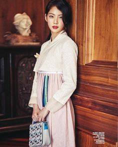Gong Seung Yeon Shares Photos from Ceci Pictorial Korean Traditional Dress, Traditional Dresses, Bh Entertainment, Gong Seung Yeon, Modern Hanbok, Dress Outfits, Dress Up, Korean Dress, K Idols