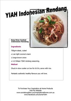 Easy Slow Cooked meal with Authentic Flavours Slow Cooked Meals, Coconut Cream, Slow Cooker, Easy Meals, Beef, Cooking, Healthy, Recipes, Inspiration