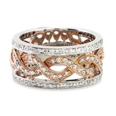 Twisted Two-Toned Diamond Anniversary Band