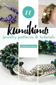 Kumihimo Jewelry Tutorials and Patterns for braided, beaded, and beautiful bracelets!