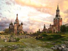 Zerstörtes Moskau 2