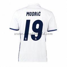 Fodboldtrøjer La Liga Real Madrid 2016-17 Modric 19 Hjemmetrøje