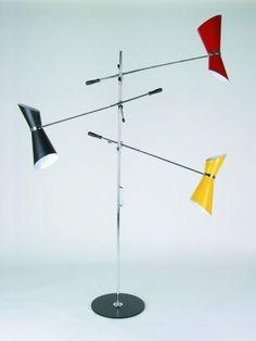 Lampada da terra 3 bracci STILNOVO Vintage. Floor lamp STILNOVO Vintage 3 arms..... franca@contractandmore.com