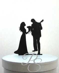 Wedding Cake Topper Guitar Player Musician and by Plasticsmith