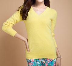 Dámský elegantní svetr žlutý – dámské svetry + POŠTOVNÉ ZDARMA Na tento  produkt se vztahuje nejen ff38bc2481