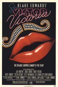 Movie Poster for Victor Victoria.  Relaeased by  Metro-Goldwyn-Mayer 1982
