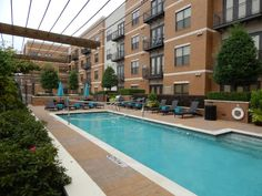 Gorgeous pool. More photos at www.Uptown101.com! #3636MckinneyApartments #UptownDallasApartments