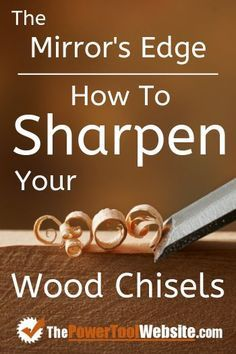 See my simple (not over-complicated like many others) process for sharpening your woodworking chisels for a razer sharp mirrors edge. A good sharp chisel is needed for so many tasks and joinery types in woodworking. See how it's done. Woodworking Chisels, Woodworking Logo, Woodworking Techniques, Easy Woodworking Projects, Woodworking Furniture, Woodworking Plans, Wood Projects, Popular Woodworking, Woodworking Education