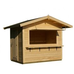 Gudrum Kitty Market Stall Log Cabins, Includes Opening Hatch and Single Door
