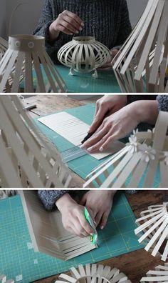 Marauda Verbo: DIY: three concepts of paper lanterns Ramadan Crafts, Ramadan Decorations, New Year's Crafts, Diy Crafts, Chinese New Year Crafts, Paper Crafting, Diy Art, Christmas Diy, Diy Paper Lanterns
