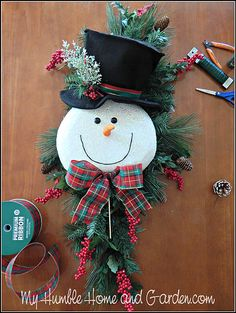 Tips and How To Create A Magical Snowman Wreath   My Humble Home and Garden