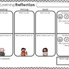 This free file features a student learning self-reflection, great for inclusion in a portfolio or to initiate student-led conferences.  It includes...