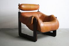 Percival Lafer Rosewood Framed Lounge Chair w/ Aged / by ABTModern